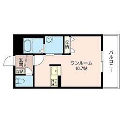 リッツ高田[1階]の間取り