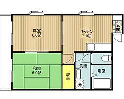 コーポタナカII[201号室]の間取り