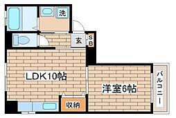 兵庫県神戸市長田区久保町3丁目の賃貸マンションの間取り