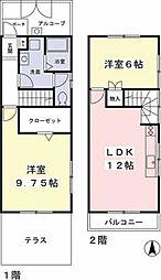 [テラスハウス] 神奈川県相模原市緑区二本松2丁目 の賃貸【/】の間取り