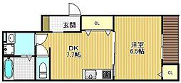D-room甲子園[202号室]の間取り