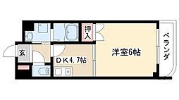 愛知県名古屋市瑞穂区川澄町1丁目の賃貸マンションの間取り