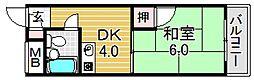 シード平野[31O号室号室]の間取り