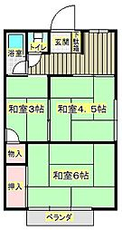 西河文化[2階]の間取り