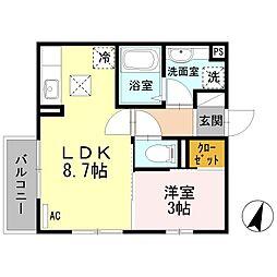 西武新宿線 下井草駅 徒歩6分の賃貸アパート 1階1LDKの間取り