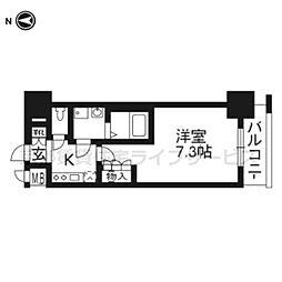 エスリード烏丸五条駅前202[2階]の間取り