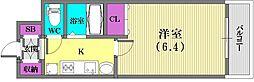 エステムプラザ神戸水木通グランクロス[7階]の間取り