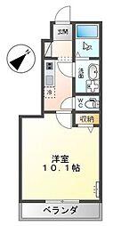広島電鉄5系統 段原一丁目駅 徒歩4分の賃貸アパート 1階1Kの間取り