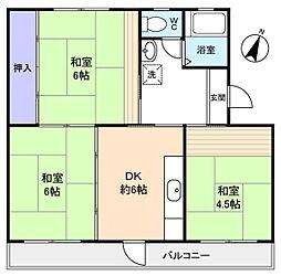 高津団地6街区16棟[5階]の間取り