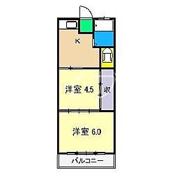 グリーン・N[4階]の間取り
