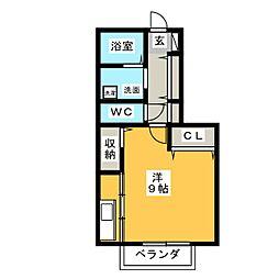 イーグルスKTV[1階]の間取り