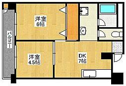 博多エステートビル[12階]の間取り