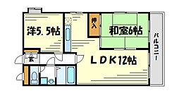 ロイヤルメゾン甲子園口IV[2階]の間取り