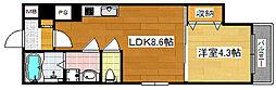 Osaka Metro四つ橋線 玉出駅 徒歩5分の賃貸マンション 1階1LDKの間取り