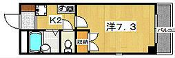 アイワマンション[3階]の間取り