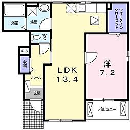 東京都町田市成瀬4丁目の賃貸アパートの間取り