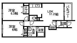 ソレイユ 和泉中央[1階]の間取り