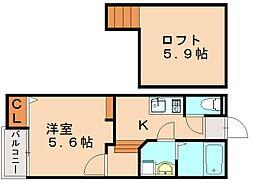 仮)クレオ土井参番館[1階]の間取り