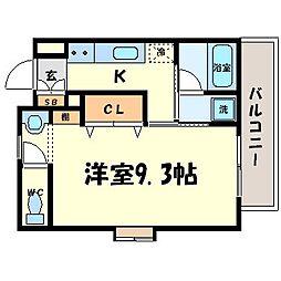 ハピネス21[1階]の間取り