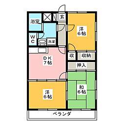 エクセルハイツ石倉[1階]の間取り