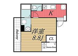 JR成田線 成田駅 徒歩3分の賃貸マンション 4階1SKの間取り