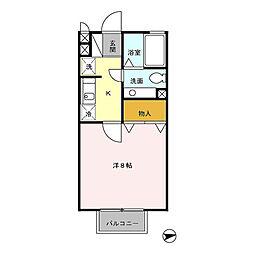 クレールエスパース[2階]の間取り