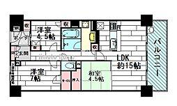 アルス千里中央[6階]の間取り