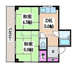 永和マンション[2階]の間取り