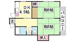 大谷荘[10号室]の間取り
