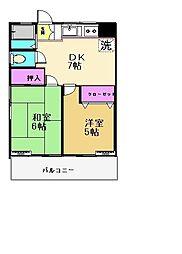 東京都調布市入間町1丁目の賃貸アパートの間取り