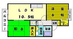 舞セジュール[2階]の間取り