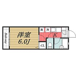 JR成田線 成田空港駅 バス14分 三里塚下車 徒歩15分の賃貸アパート 2階1Kの間取り