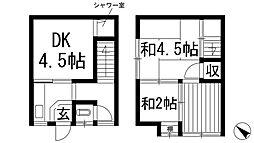 [テラスハウス] 兵庫県川西市小花2丁目 の賃貸【/】の間取り