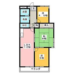 新舞子シーサイドマンション[2階]の間取り