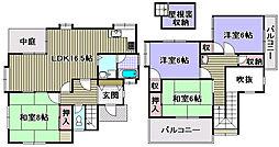 北野田一戸建賃貸 1階4LDKの間取り