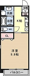 サンクチュアリ四条高倉[703号室号室]の間取り