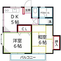 ドウェリング斉藤5[2階]の間取り