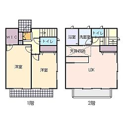 [テラスハウス] 神奈川県厚木市岡田4丁目 の賃貸【/】の間取り