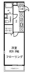 神奈川県横浜市港北区篠原西町の賃貸マンションの間取り