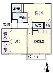 和み B棟[2階]の間取り