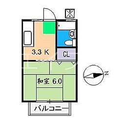 サンライフ笹岡[2階]の間取り