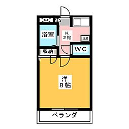 ファンテイル青江[3階]の間取り