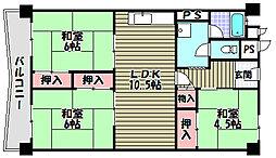 泉北若松台B棟[10階]の間取り