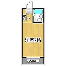 佐々木マンション[201号室]の間取り
