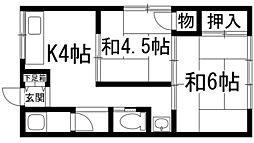 宝荘[1階]の間取り