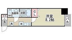 ダイドーメゾン神戸元町[12階]の間取り