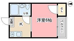 稲穂ハイツ[203号室]の間取り