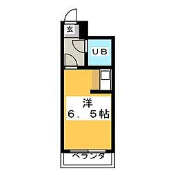 朝日プラザ五橋III[6階]の間取り