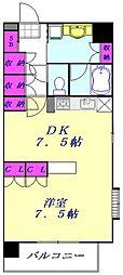 JR京浜東北・根岸線 西川口駅 徒歩6分の賃貸マンション 4階1DKの間取り