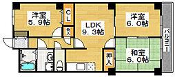 サンライズ堺[2階]の間取り